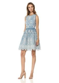 Shoshanna Women's Mollina Sleeveless Fit and Flare Dress