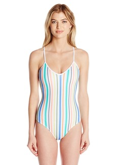 Shoshanna Women's Ombre Stripe String One Piece Swimsuit