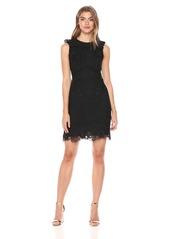 Shoshanna Women's Poppy Sleeveless Shift Dress with All Over Lace