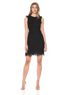 Shoshanna Women's Poppy Sleeveless Shift Dress with All Over Lace