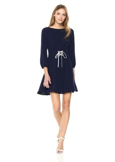 Shoshanna Women's Tomi Long Sleeve Fit and Flare Dress