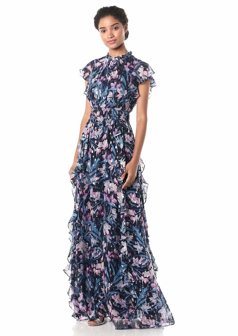 Shoshanna Women's Triana Gown Navy/Blush/Silver
