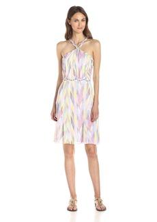 Shoshanna Women's Willa Woven Dot Halter Dress