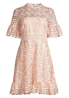 Shoshanna Sora Lace Eyelet A-Line Dress