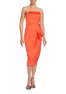 Shoshanna Straight Across Neckline Dress