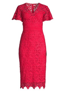Shoshanna Talor Floral Lace Dress
