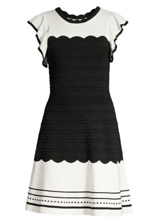 Shoshanna Tami Colorblock Fit-& Flare Dress