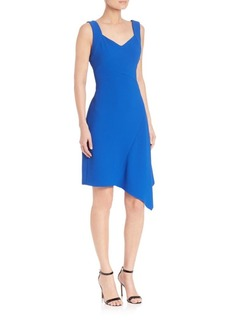 Shoshanna Textured Stretch Crepe Krystal Dress