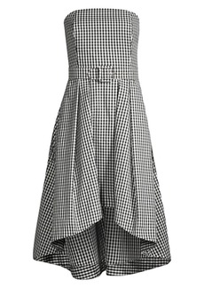 Shoshanna Tina Belted Gingham Midi Dress
