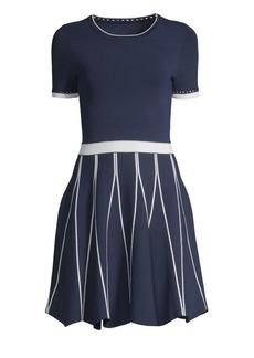Shoshanna Tinsley Short Sleeve A-Line Dress