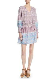 Shoshanna Torrance V-Neck Dress in Boho Floral Print