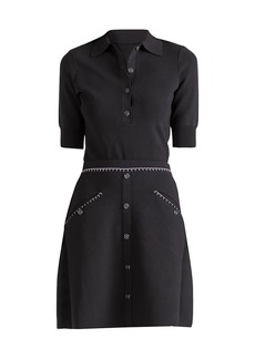 Shoshanna Tory Topstitched Knit Dress