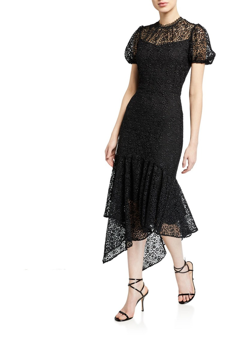 Shoshanna Trinette Ditzy Floral Lace Midi Dress