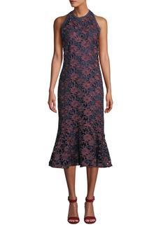 Shoshanna Tupper Floral Lace Sleeveless Midi Dress
