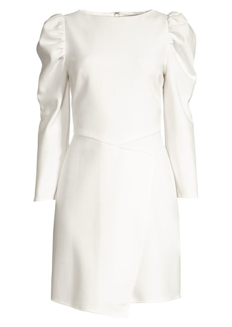 Shoshanna Upton Puff-Shoulder Sheath Dress