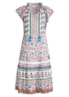 Shoshanna Veranda Floral Swing Midi Cover-Up