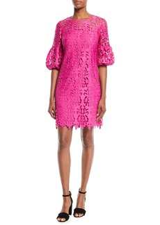 Shoshanna Vina Lace Dress w/ Bell Sleeves