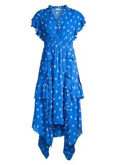Shoshanna Yasmine Tiered Floral Dress