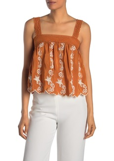 Show Me Your Mumu Hannah Floral Embroidered Silk Tank Top