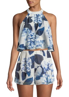 Show Me Your Mumu Mateao Tie-Back Floral Blouse