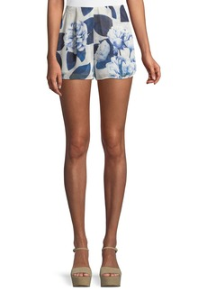 Show Me Your Mumu Sawyer Floral-Print Chiffon Shorts