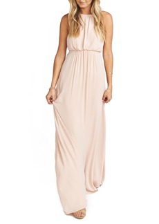Show Me Your Mumu Amanda Open Back Blouson Gown
