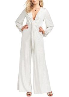 Show Me Your Mumu Angela Metallic Long Sleeve Jumpsuit