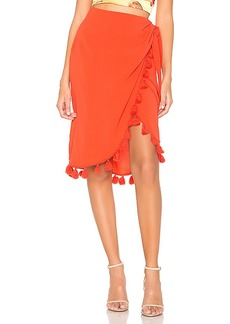 Show Me Your Mumu Anjolie Wrap Skirt With Tassels