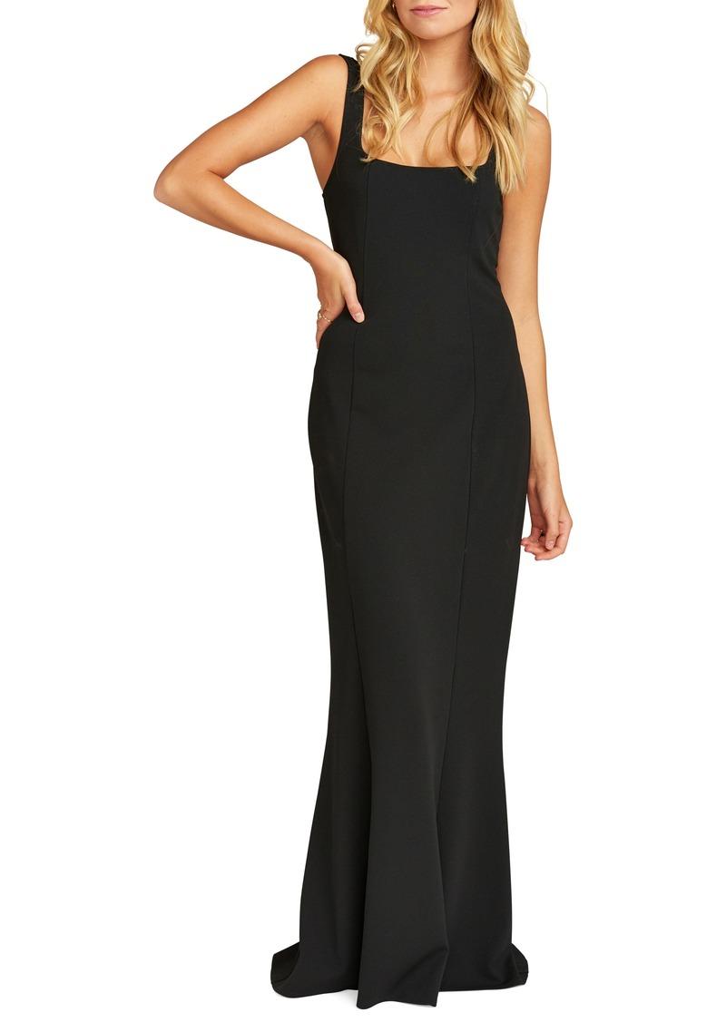 Show Me Your Mumu Belinda Square Neck Stretch Crepe Gown