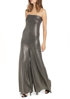 Show Me Your Mumu Boogie Metallic Strapless Jumpsuit