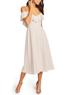 Show Me Your Mumu Camilla Ruffle Neck Midi Dress