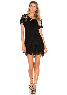 Show Me Your Mumu Crochet The Day Away Tunic in Black. - size M (also in S,XS)