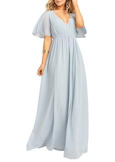 Show Me Your Mumu Emily Chiffon A-Line Gown