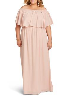 Show Me Your Mumu Hacienda Off the Shoulder Ruffle Gown (Plus Size)