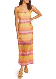 Show Me Your Mumu Harlowe Velvet Burnout Stripe Maxi Dress