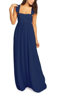 Show Me Your Mumu June Ruffle Strap Evening Dress