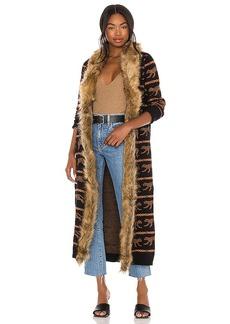 Show Me Your Mumu Langston Faux Fur Cardigan