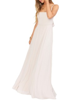 Show Me Your Mumu Lauren Tie Back Chiffon Gown