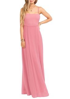 Show Me Your Mumu Lauren Tie Back Chiffon A-Line Gown