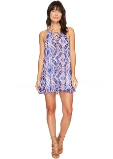 Show Me Your Mumu Lo Lace-Up Mini Dress