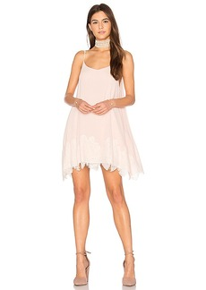 Show Me Your Mumu Lockett Lace Mini Dress in Blush. - size M (also in S,XS)