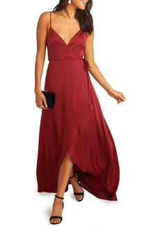 Show Me Your Mumu Mariah Wrap Evening Dress