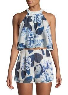 Show Me Your Mumu Mateao Tie-Back Floral Blouse