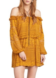 Show Me Your Mumu Moonlight & Roses Off-the-Shoulder Minidress