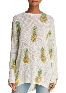 Show Me Your MuMu Openwork Pineapple-Print Sweater