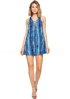 Show Me Your Mumu Rancho Mirage Lace-Up Tunic Dress