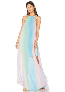 Show Me Your Mumu Rochester Maxi Dress in Blue. - size M (also in S,XS)