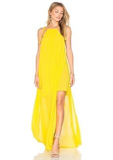 Show Me Your Mumu Rochester Maxi Dress in Yellow. - size XS (also in M,S)