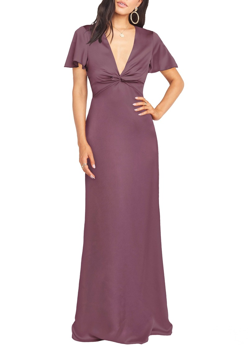 Show Me Your Mumu Rome Front Twist Plunge Gown