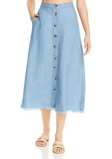 Show Me Your MuMu Sharon Chambray Skirt
